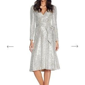 Silver Sequin Dress - Perfect for Holiday Season!